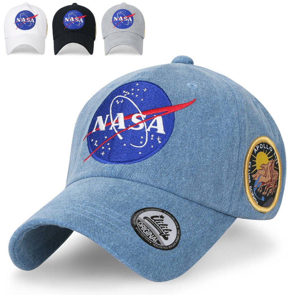 c35867e139a Details about ililily NASA Meatball Logo Embroidery Baseball Cap Apollo 13 Patch  Trucker Hat