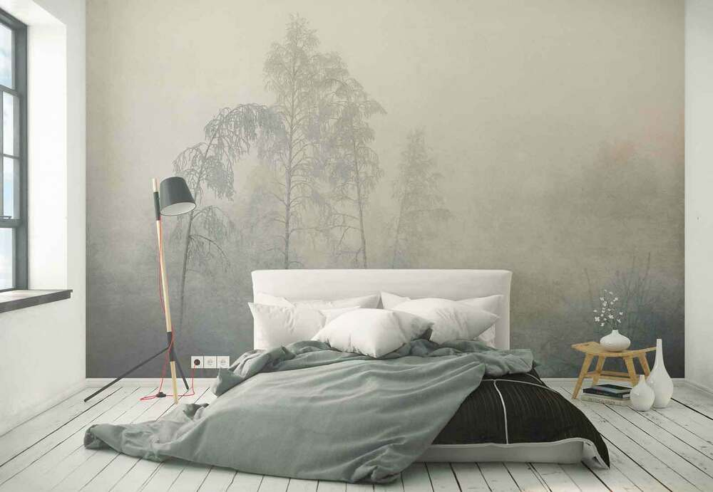 wald b ume frost nebel vlies fototapete 1x 1340046 tapete ebay. Black Bedroom Furniture Sets. Home Design Ideas