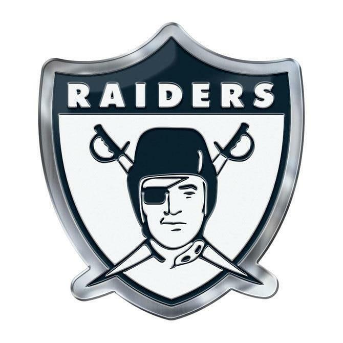 Oakland Raiders Die Cut Alternate Metal Auto Emblem New Car Decal