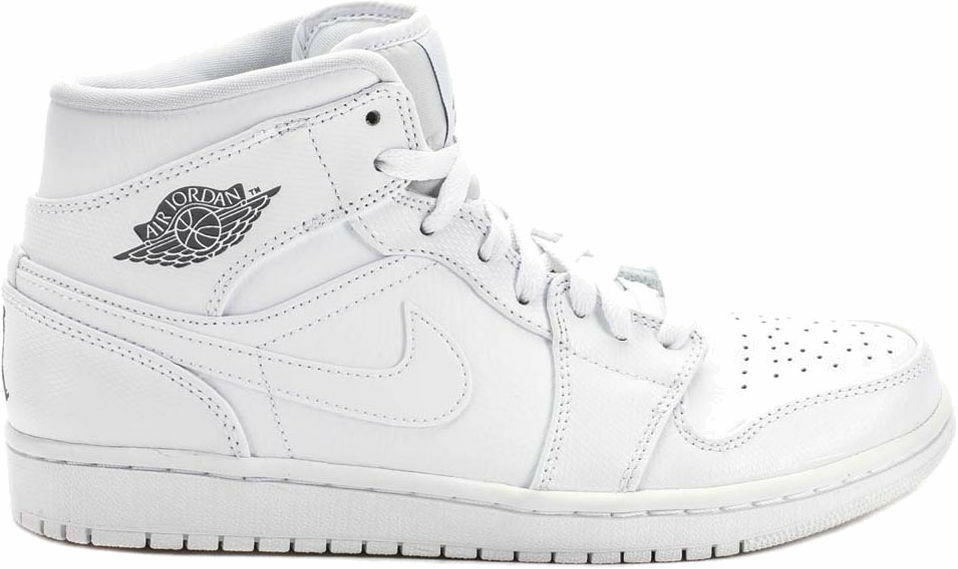 96051726783e68 Details about Nike Men s Air Jordan 1 Mid Shoes NEW AUTHENTIC White Cool  Grey 554724-120