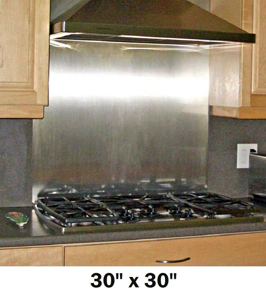 Details about stainless steel backsplash panel range hood wall shield w hemmed edges 30x30in