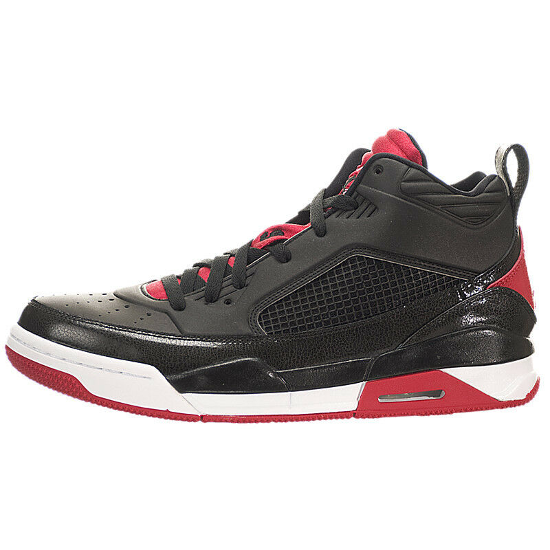 7a290b89f3bca6 Details about Nike Men s Jordan Flight 9.5 Shoes NEW AUTHENTIC Black Gym Red  White 654262-001