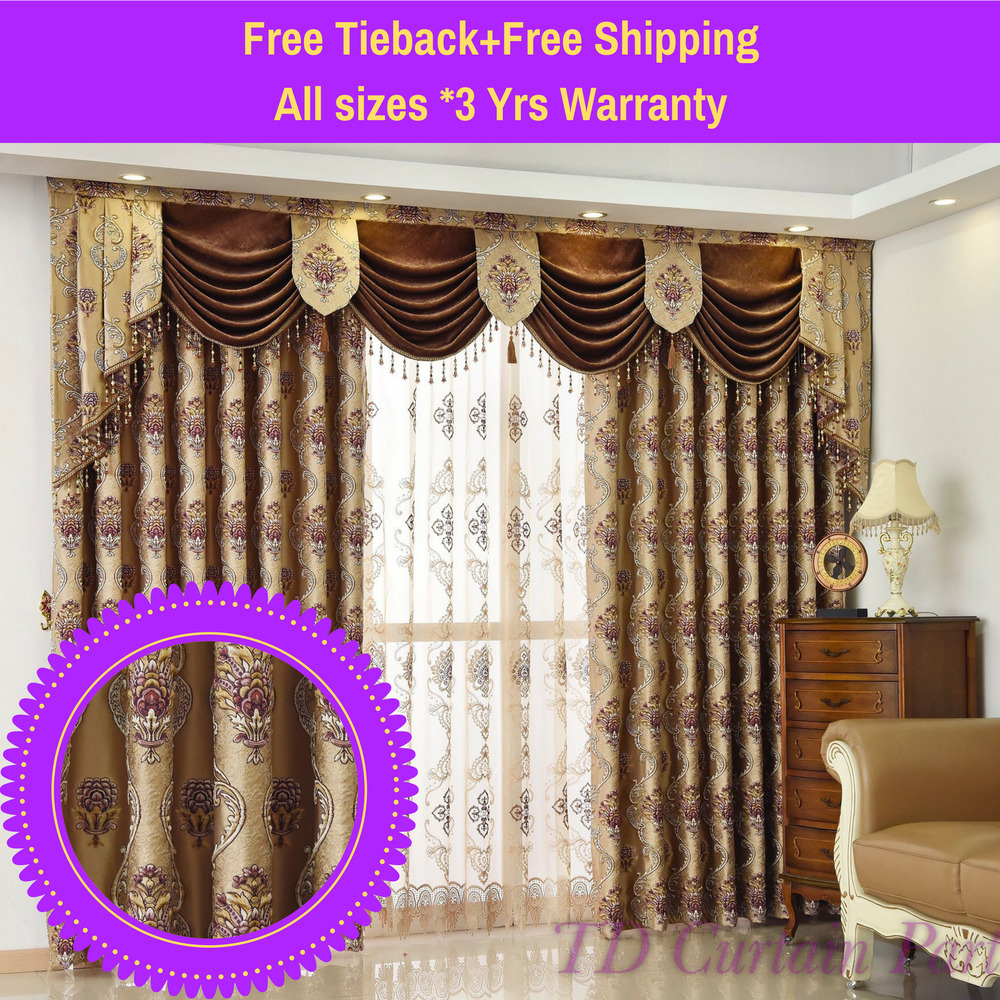 Swag Valance Coffee Brown Cappuccino Bedroom Curtain