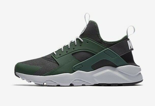 a7d14824db7d4 Details about Nike Men s AIR HUARACHE RUN ULTRA Shoes Green Black  819685-301 b Size 10