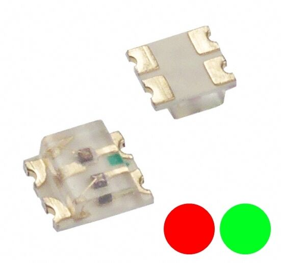 AllemagneS739 - 10-pc Duo  Leds SMD 0605 Rouge/Vert Bicolor Red / Vert