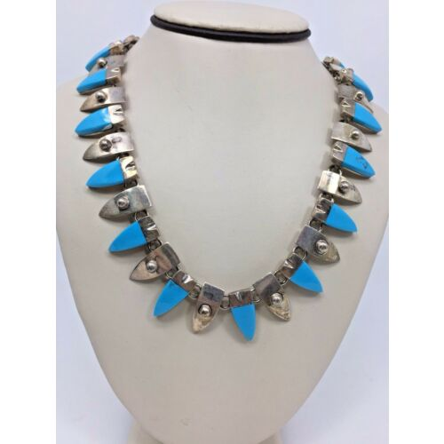 vintage-turquoise-sterling-silver-925-triangle-necklace-chain-20
