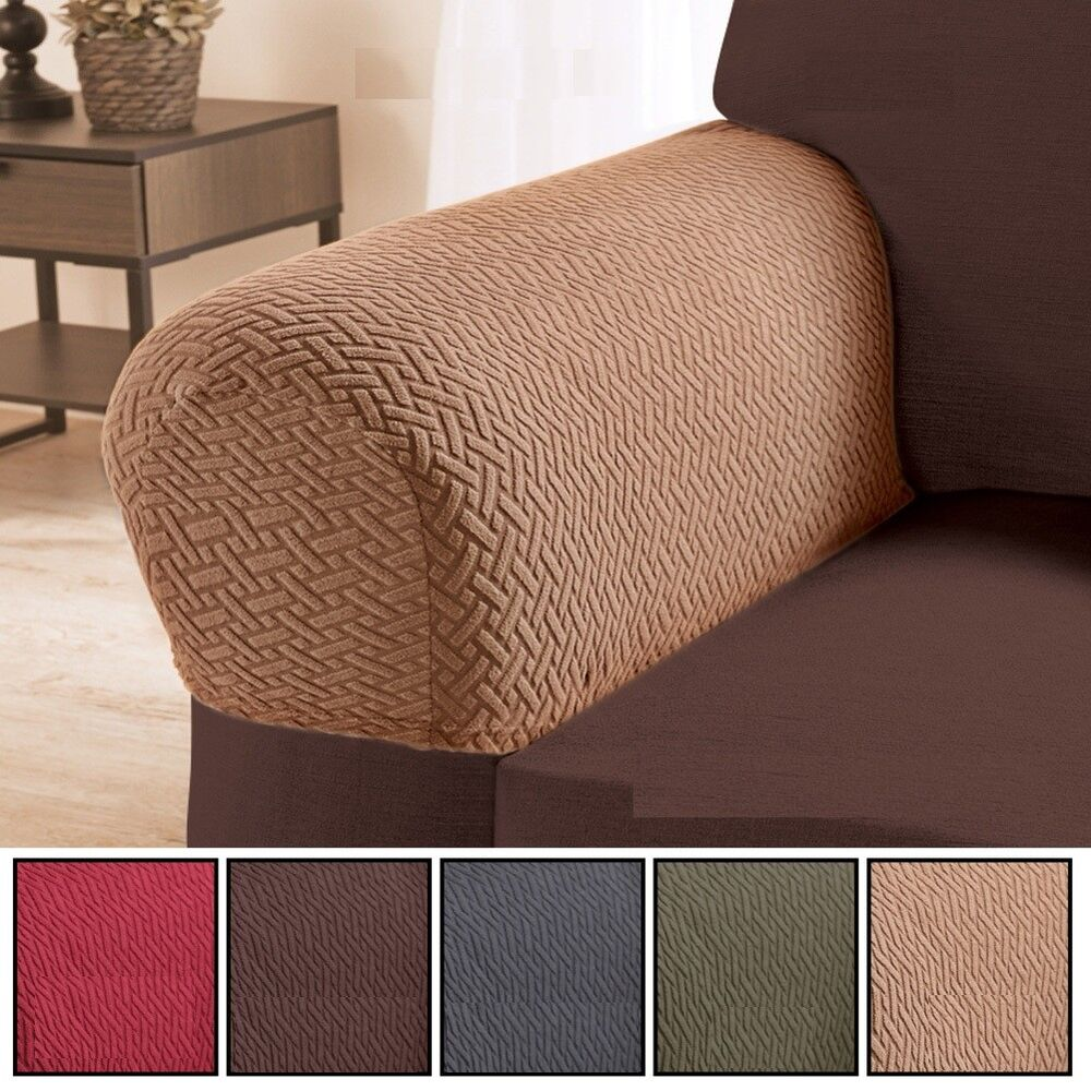 Armrest Covers Polyester Spandex Chair Protectors Set 2