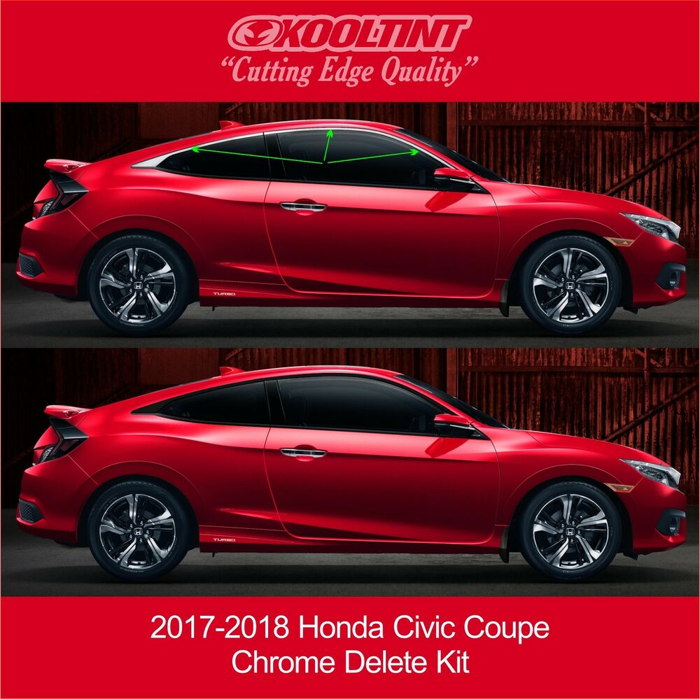 2017-2019 Honda Civic Coupe Chrome Delete Kit