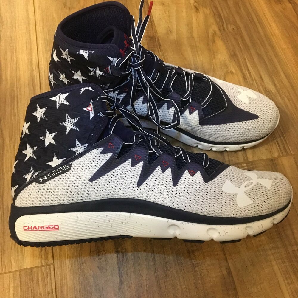 a57f4f4d6 Details about Under Armour Delta Training Shoes American Flag Print 1288058  410 Mens Size 8