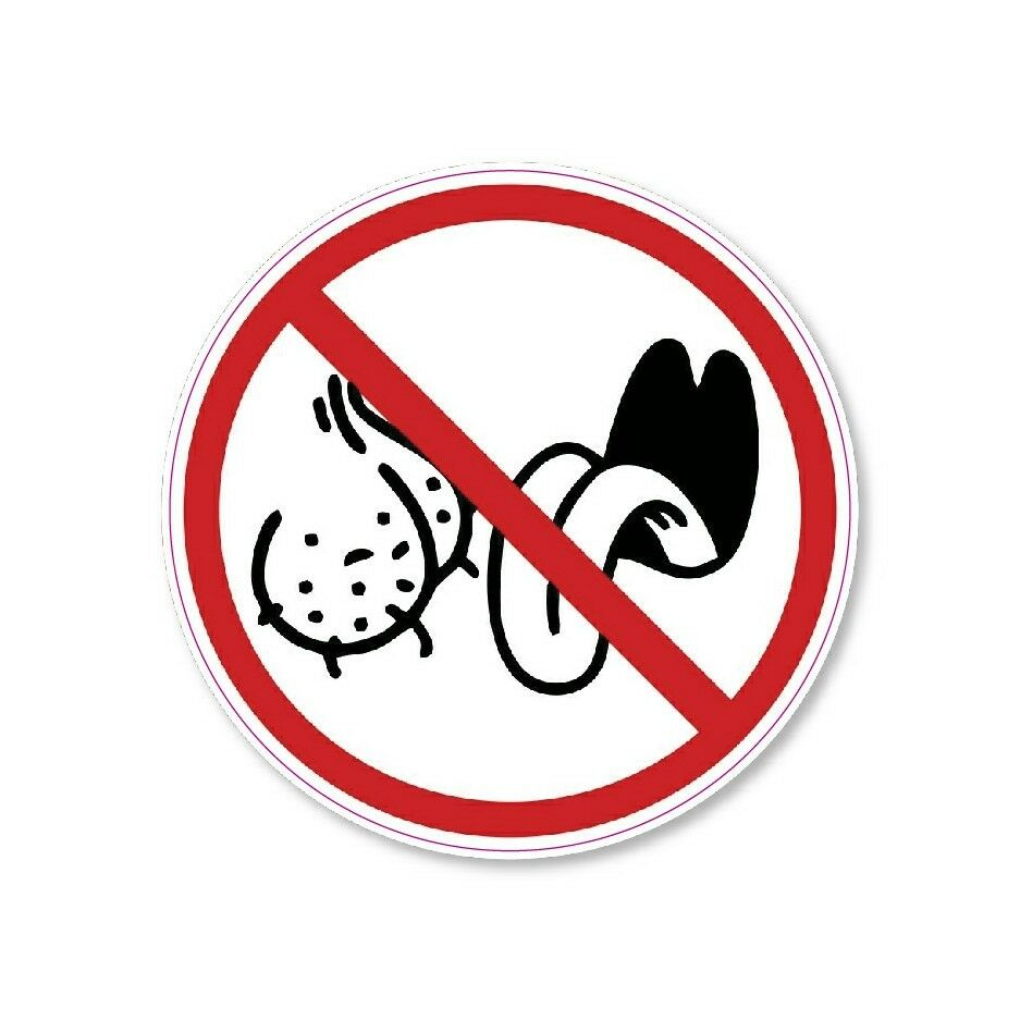 Details about no ball lickers allowed circle decal offensive funny sticker bumper car truck 3m