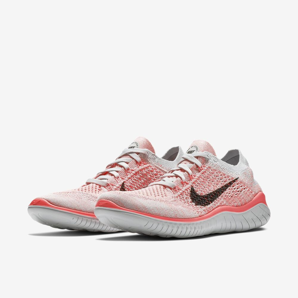 bcfe26b2018 Details about Nike Free RN Flyknit Crimson Pulse Pure Platinum Womens  Running 2018 ALL NEW