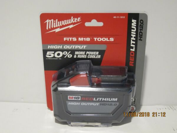 Milwaukee 48-11-1812 M18 FUEL HD 12 Ah RED Li-Ion BATTERY F/PRI-SHP SEALED 2018!