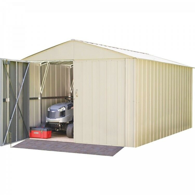 Storage Garage Metal Building Galvanized Steel Shed Utility Building 10 Foot X 15 Foot  sc 1 st  eBay & Storage Garage Metal Building Galvanized Steel Shed Utility Building ...