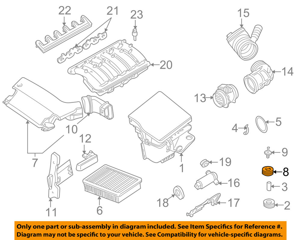 details about bmw oem 00-06 x5 4 4l-v8 engine-air inlet assembly buffer  07147267586