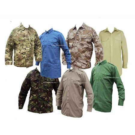 img-Mens Airsoft Army Combat Work Jacket/Shirt Camo Military Cargo Camouflage Shirt