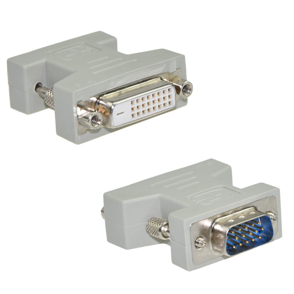 New DVI-D Female (24+1) To VGA Male (15-pin) Connector