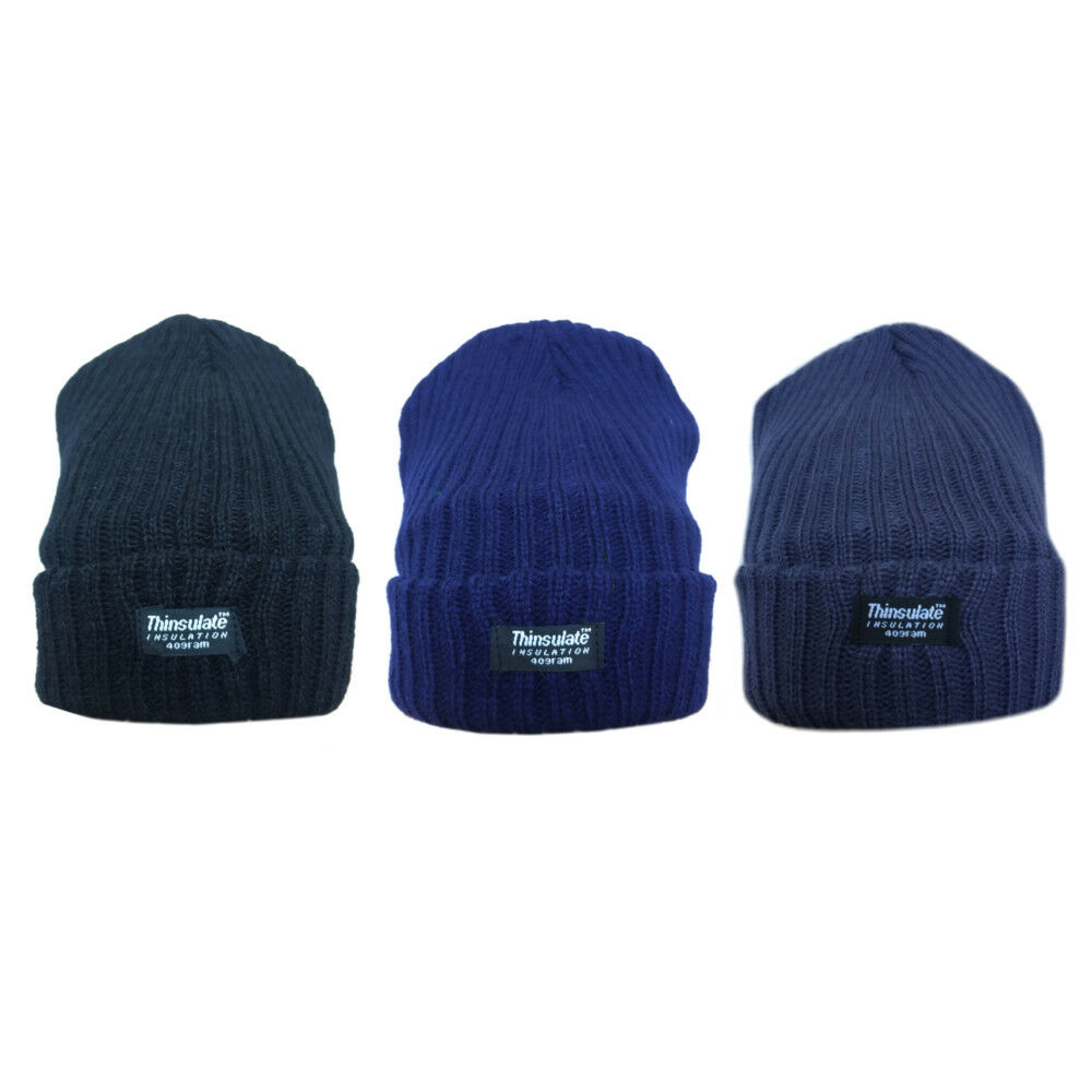 Details about Mens Thermal Thinsulated Fleece Lined Winter Hats Free P P  2x2Thinsulate 829c85598f9c