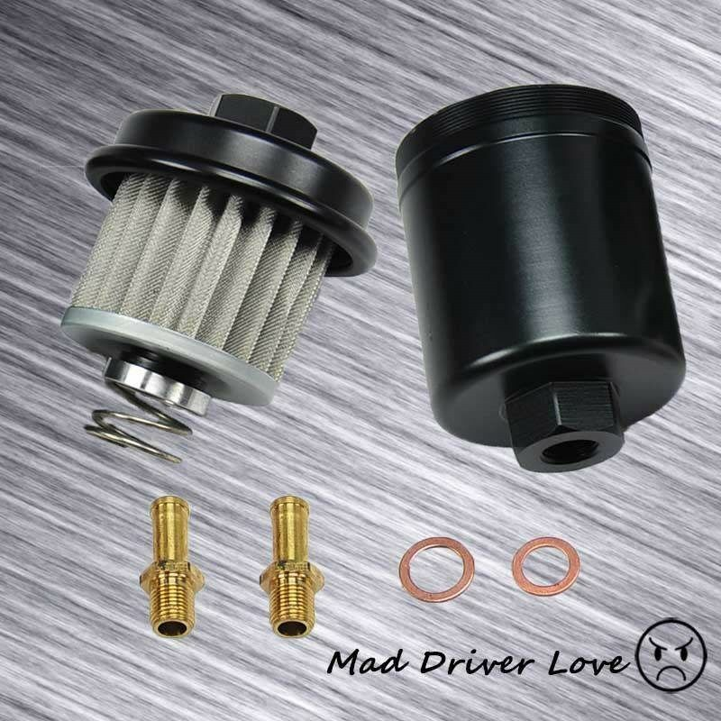 details about 1994-2001 acura integra fuel filter s/s fine mesh washable  oem replacment black