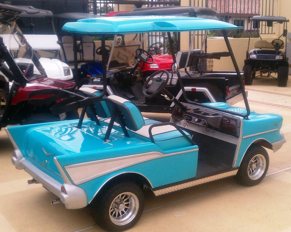 Build Your Own Golf Cart Kit >> 57 Chevy Custom Golf Cart Body Kit EZGO TXT includes lights & hardware | eBay