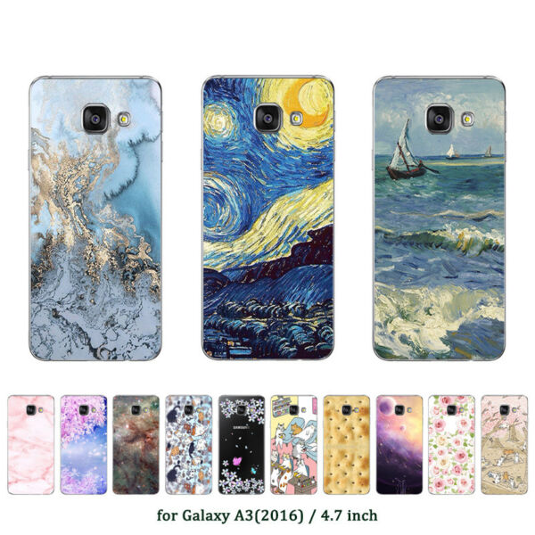 Soft TPU Silicone Case For Samsung Galaxy A3 2016 SM-A310F Back Cover Marble