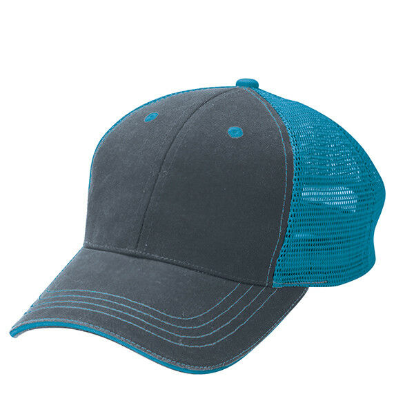 178869fff78 Details about 6 Pack NEW Aqua   Charcoal Grey Cotton Twill 6 Panel Trucker  Hats - ADJUSTABLE
