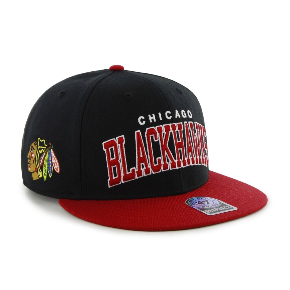 76237871111 Details about RR BNWT 47 Brand 47  OFFICIAL NHL Chicago Blackhawks SNAPBACK  CAP One Size Mens