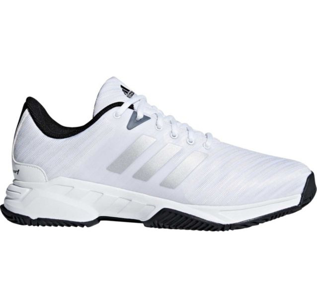 Mens Adidas Barricade Court Wide White Sport Tennis Athletic Shoes CM7817  Size 9  1e9fbb927