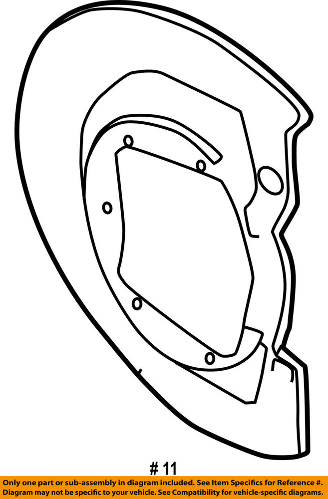 Chrysler Oem Rear Brake Backing Plate Splash Dust Shield 4728110