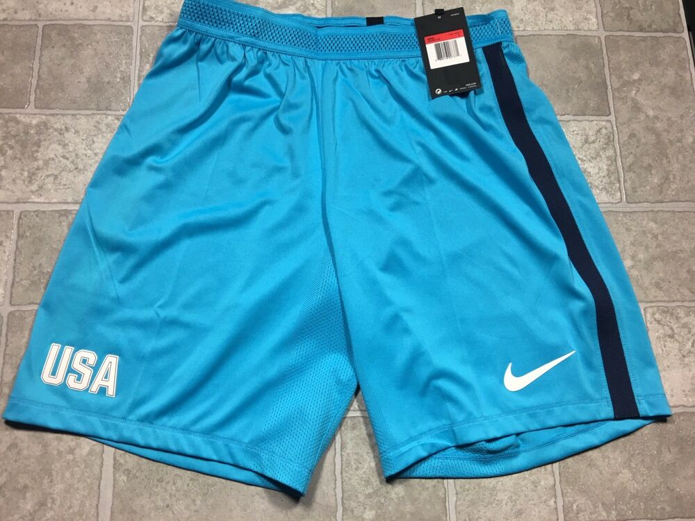 71e5e2d2d Details about Nike Player Issue USA Soccer Shorts LARGE AeroSwift USMNT  Olympics RARE! Blue