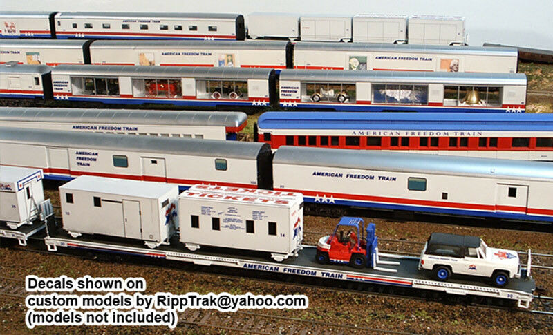 American freedom train ho scale decals for all 26 cars of the train ebay