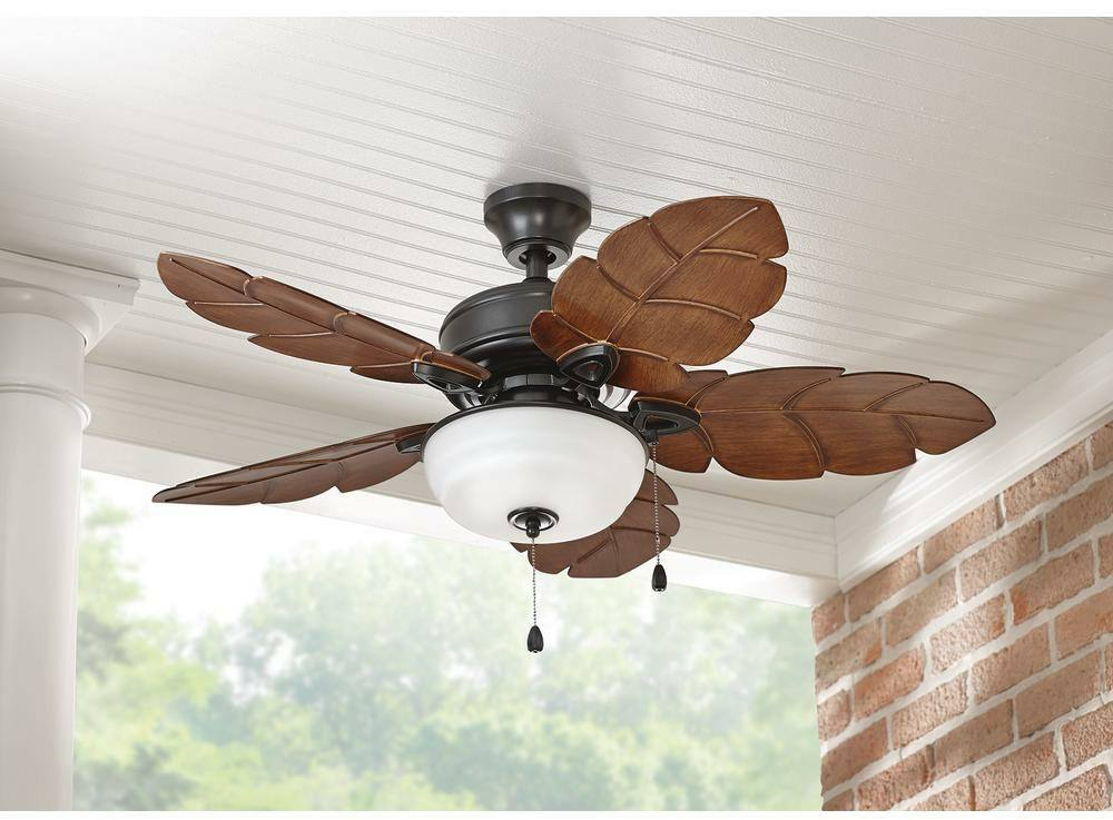 Tropical Style Indoor Outdoor Ceiling Fan 44 In Palm Leaf