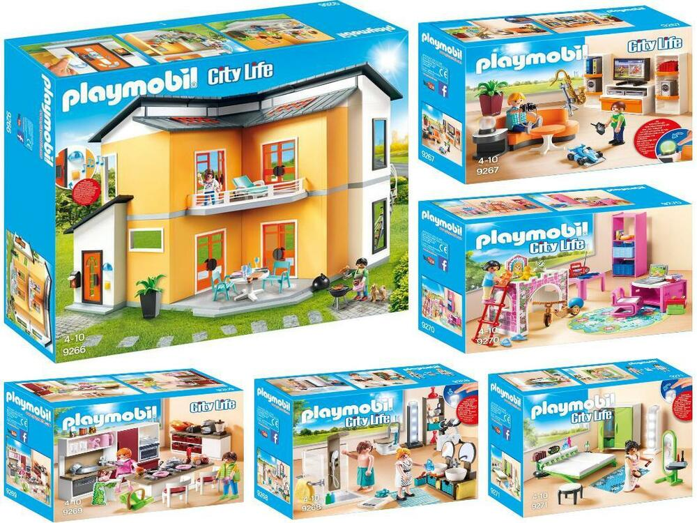 Playmobil 9266 9271 Moderne Maison 5 Chambre Neuf Embal