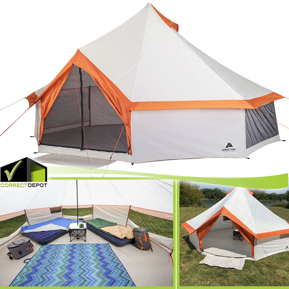 Ozark Trail 8 Person Large Yurt Tent Family Camping Hiking