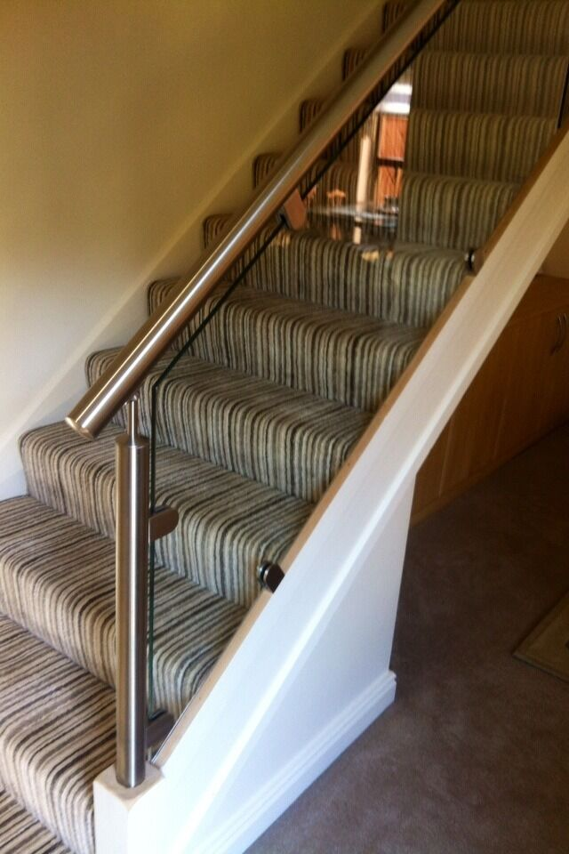 Glass and Stainless Steel , staircase Re-Style balustrade Oak Too | eBay