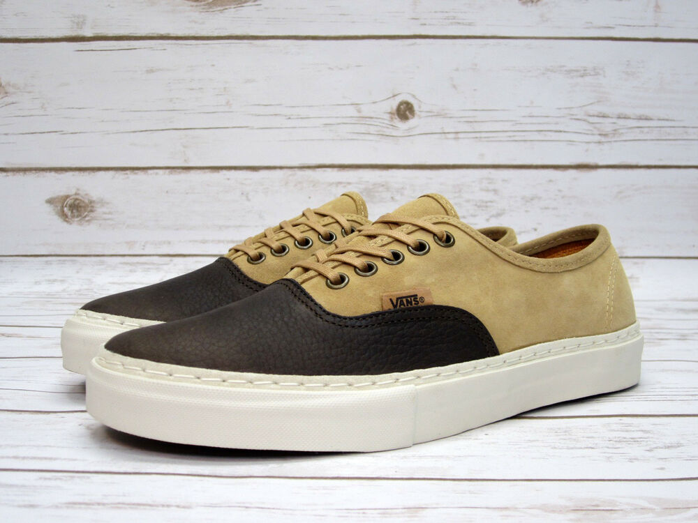 08d6b376a9 Details about Vans Vault Authentic Lx Leather Suede Chocolate Brown Men s  BRAND NEW!
