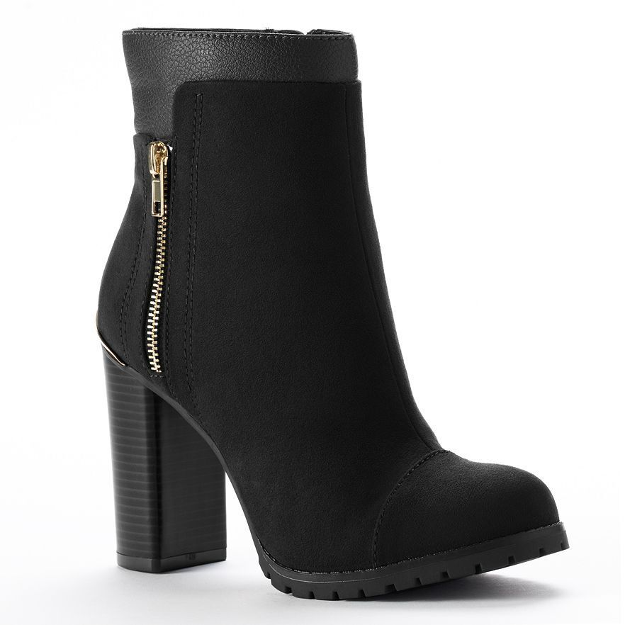 NEW! Juicy Couture Designer Livia Ankle Boots Shoes - Black or Brown ... 82458b11f7