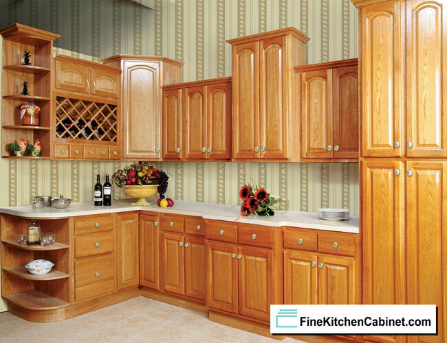 wood unfinished kitchen cabinets all wood rta 10x10 country oak ready to assemble kitchen 29426