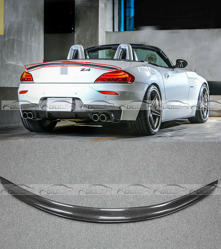 Bmw Z4 Boot: Carbon Fiber 3D Style Rear Trunk Spoiler Wing Lip For BMW