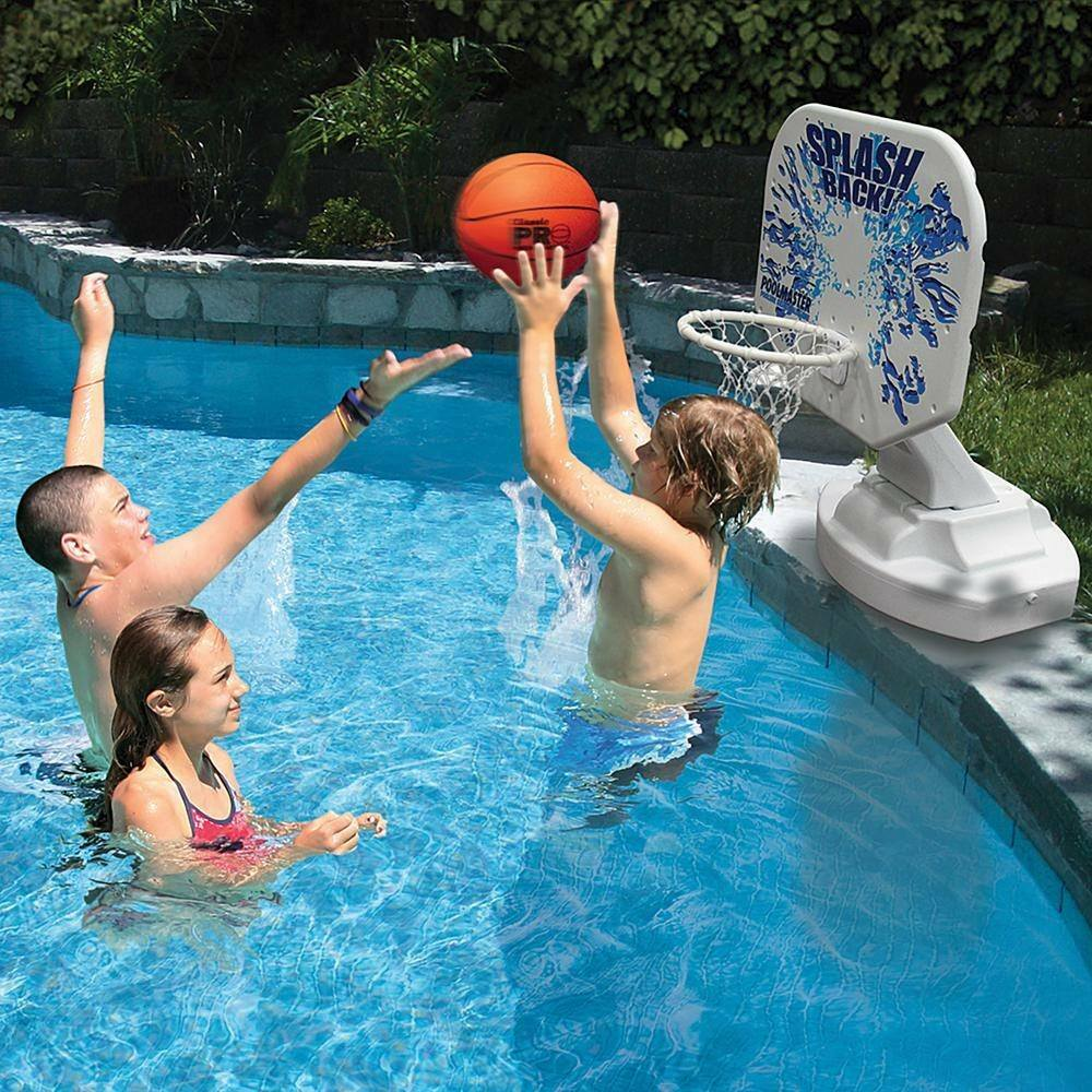 Swimming Pool Basketball Hoop Game Poolside Poolmaster Splashback ...