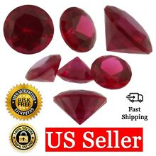 Loose Round Cut Ruby CZ Stone Single Red Cubic Zirconia July Birthstone Shape