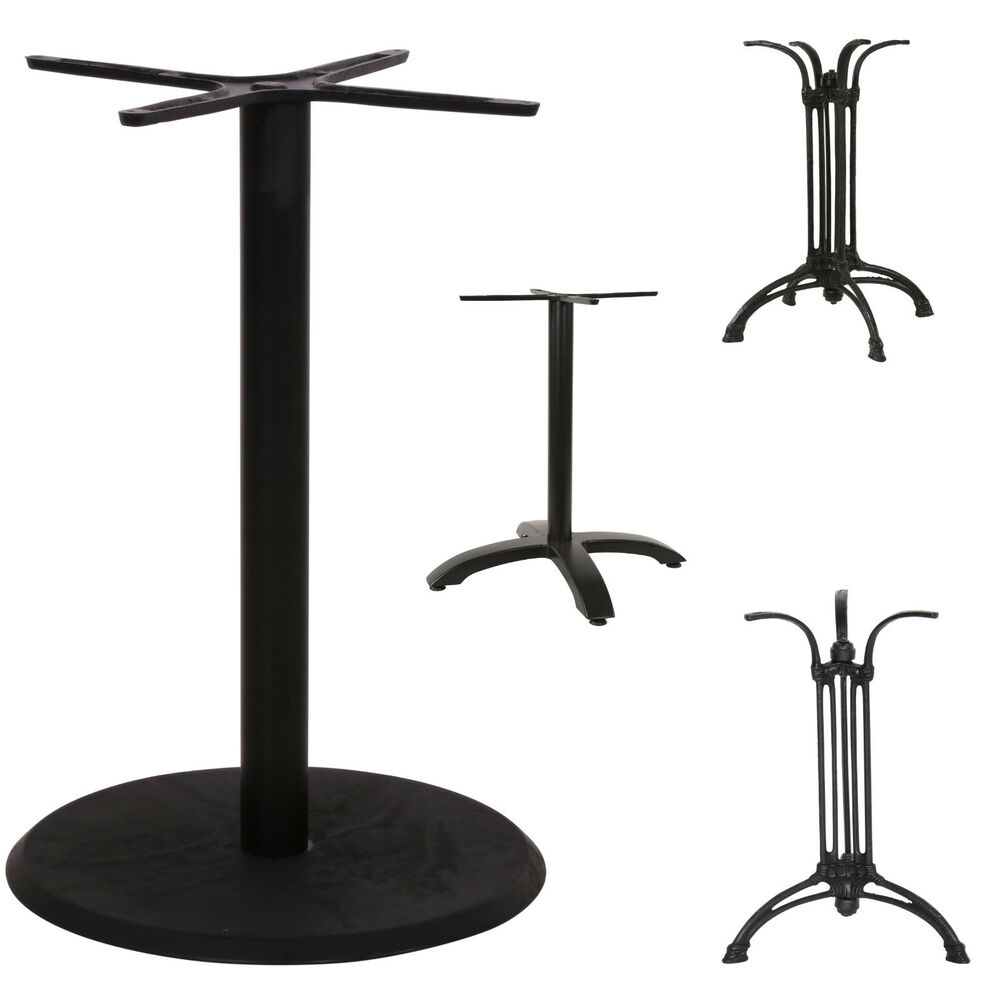 tischgestell aluminium bistrotisch beistelltisch stehtisch schwarz 70 cm tisch ebay. Black Bedroom Furniture Sets. Home Design Ideas
