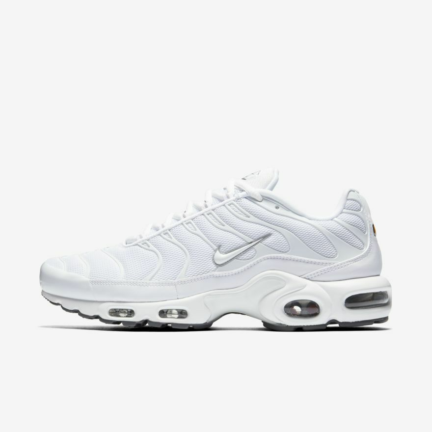 376794cb91 NIKE AIR MAX PLUS 604133-139 TRIPLE WHITE TUNED AIR TN 97 98 VAPORMAX | eBay