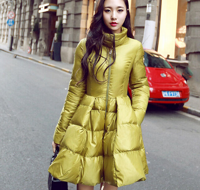a867bca751e4b Details about Womens Slim Parka Duck Down Winter Puff Cape Coats Jackets  Fashion New 2015 YE