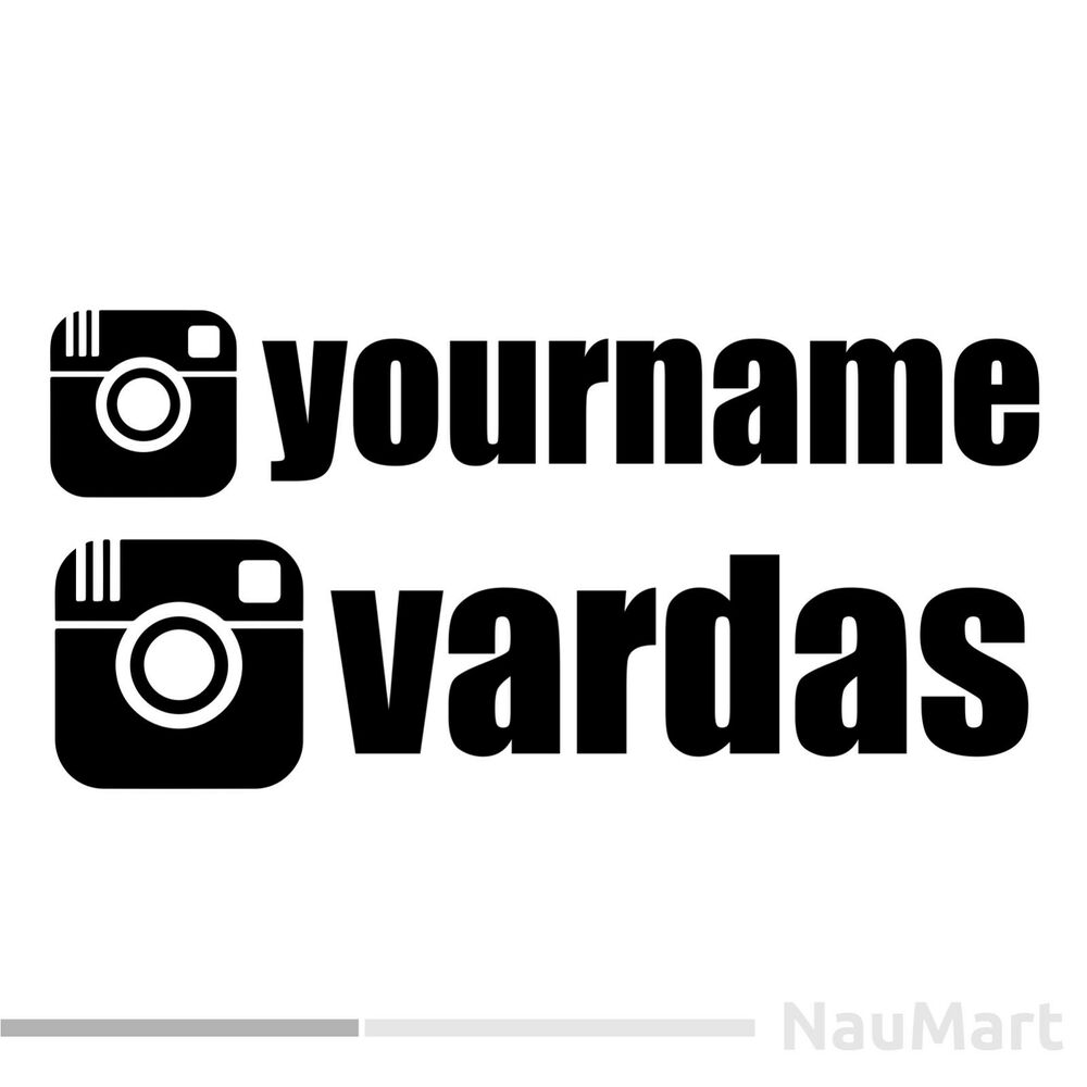 Details about instagram name custom stickers decals vinyl cut no background 1 50 st035