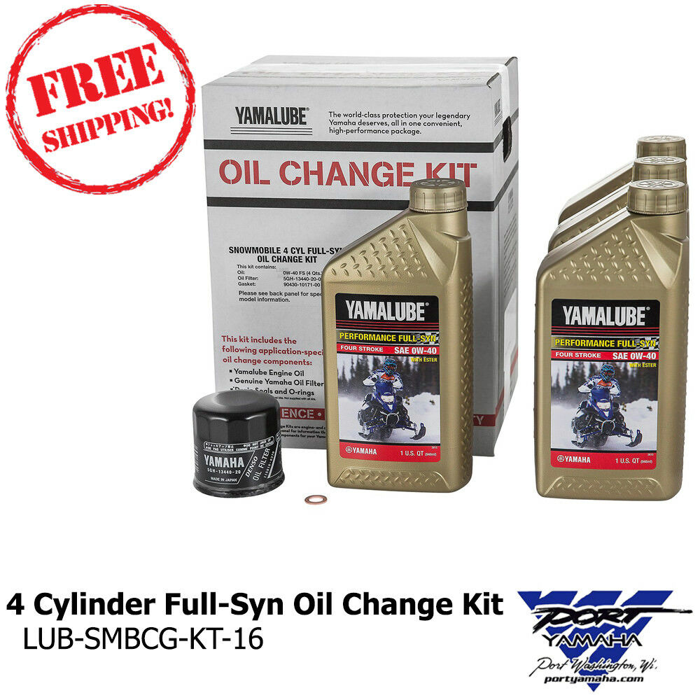 Yamaha 4 Cyl Snowmobile Full-Synthetic Oil Change Kit 0W40 Apex, Attak, RX1,  RX | eBay
