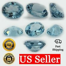 Loose Oval Cut Aquamarine CZ Stone Single Light Blue Cubic Zirconia Birthstone