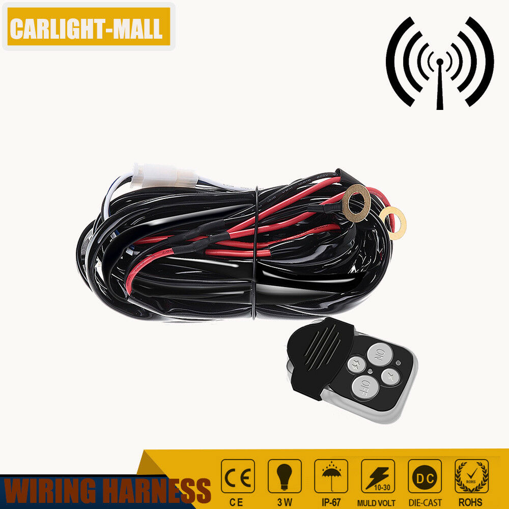 12v Lead 40a Remote Control Wiring Harness Kit Switch Relay Led Work 1951 Ferrari Light Bar
