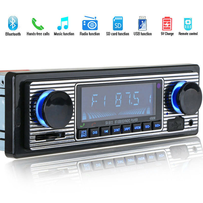 Taki Taki Lumba Mp3 Audio: Bluetooth Vintage Car Radio MP3 Player Stereo USB AUX