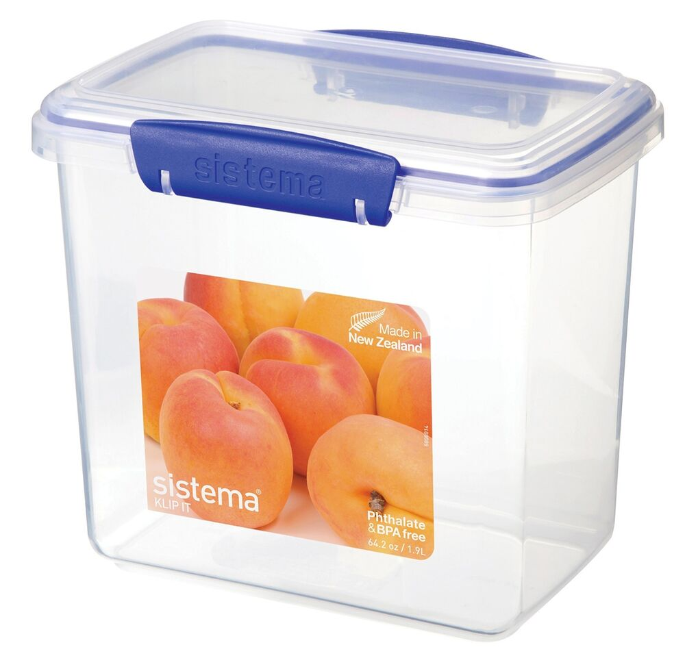 Safe Airtight Rectangular Tall Food Storage Container 60oz