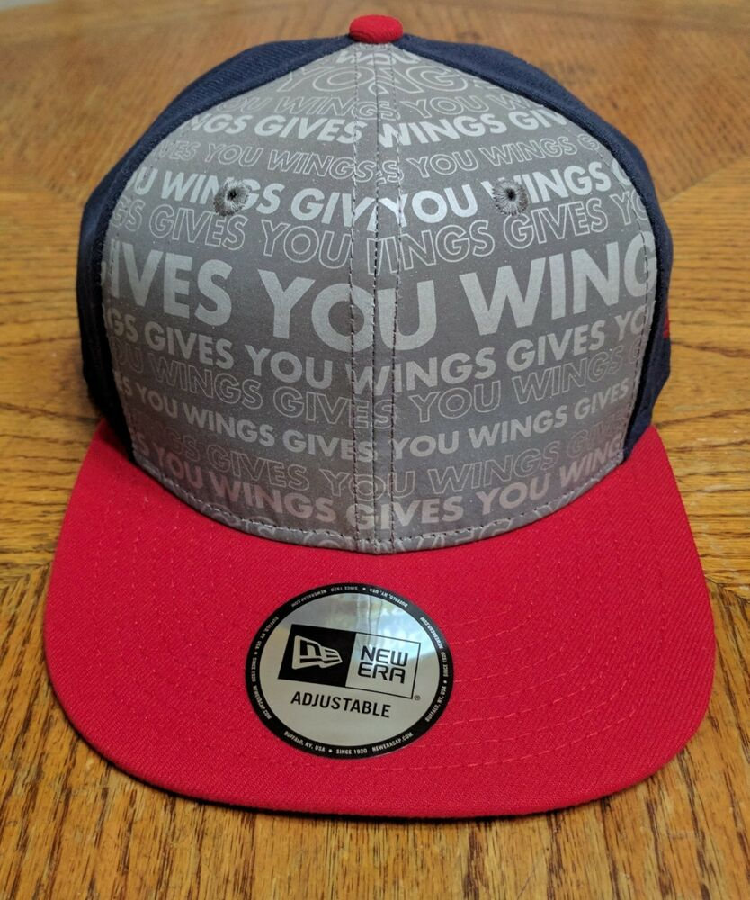 7269e91e8bdde Details about Red Bull New Era Red Blue Reflective Gray Snapback Hat. Brand  NEW